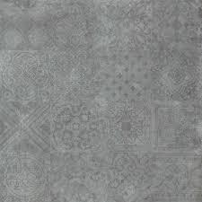 dekorfliese bodenfliese dekor icon dunkelgrau 60x60cm