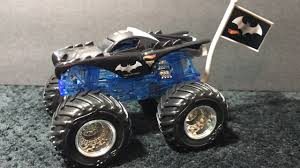 100 Monster Truck Batman 2017 Hot Wheels Jam Edge Glow 164 Review YouTube