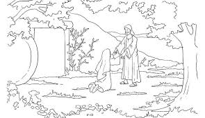 Easter Jesus Coloring Template For Kids