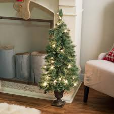 Pre Lit Porch Christmas Trees by Gerson Company Deluxe Cashmere Pine Potted Pre Lit Christmas Tree