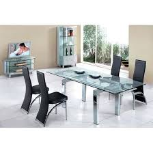 Extendable Glass Top Dining Table Glass Extendable Dining Table With