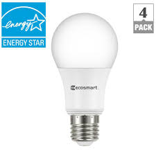ecosmart 60 watt equivalent a19 dimmable energy led light