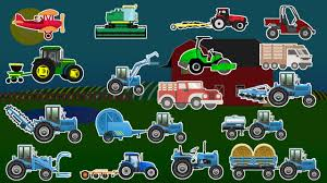 Learning Farm Vehicles - Tractors And Trucks - Educational Flash ...