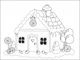 Image Of Gingerbread House Coloring Pages Printable