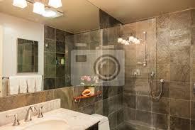 moderne renovierte badezimmer granit dusche fliesen bilder myloview