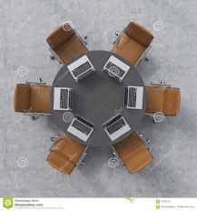 Top View Of A Conference Room. A Black Round Table, Six ... 3d Empty Chairs Table Conference Meeting Room 10651300 Types Of Fniture Useful Names With Pictures 7 Stiftung Excellent Deutschland Black Clipart Meeting Room Board Or Hall With Stock Vector Amusing Adalah Clubhouse Con Round Silver Cherryman 48 X 192 Expandable Retrack Boss Peoplesitngjobcversationclip Cartoontable Table Office Fniture Clip Art Round Fnituconference Meetings Office