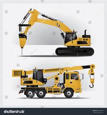 Construction Vehicles Vector Illustration Stock Vector (Royalty Free ...
