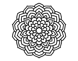 Mandala Flower Petals Coloring Page