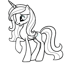 Alicorn Coloring Pages Fine My Little Pony Twilight Sparkle Ideas