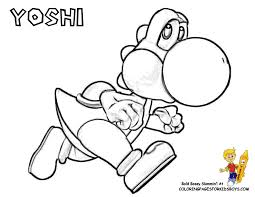 Yoshi Coloring At YesColoring Pages Kids