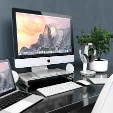 Imac Monitor Desk Mount by New Aluminum Alloy Desk Monitor Riser Stand For Pc Laptop Imac