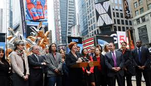 NYCxDESIGN launched with Christine Quinn on Monday at Times Square