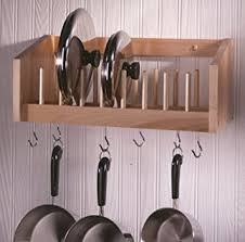 Pot & Lid Rack Natural MADE IN USA