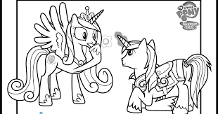 Princess Cadence And Shining Armor Coloring Pages My Little Pony Colouring Fun YouTube