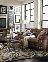 Living Room Decorating Ideas Black Leather Sofa by Black Room Furniture Half Wallpaper Walls Half Painted Walls On