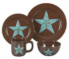 Rustic Star Western Dinnerware Set Kitchen And Dining Decor