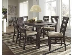 Dresbar 7-Piece Rectangular Dining Table Set By Benchcraft At Virginia  Furniture Market