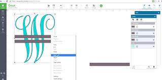 How To Make A Monagram Split Letter In Cricut Design Space