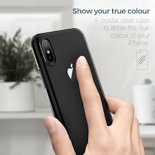 More Crystal Clear Flexible Silicone Transparent iPhone X Edition