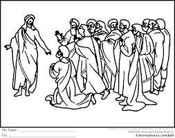 12 Disciples Coloring Page In Jesus And The