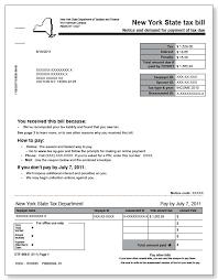 New York State Tax Bill – Sample 2