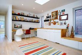 Bright Ikea Wall Shelves Fashion Toronto Eclectic Home Office Inspiration With Built In Desk Butcher Block Collection