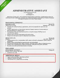 Administrative Assistant Resume Skills Section Example