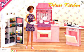 new case for barbie Doll House kitchen Furniture Set gift box