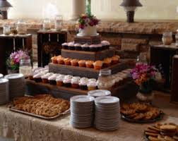 5 Tier Wedding Reception Decorations Cupcake Stand Cake Country Barn Wood Rustic