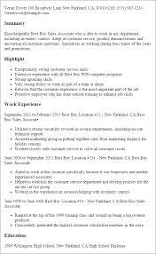 Resume Computer Retail Sales Templates Best Buy Associate Template Design Tips Printable