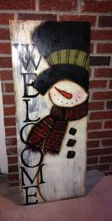 Frosty Welcome Outdoor Wood Crafts
