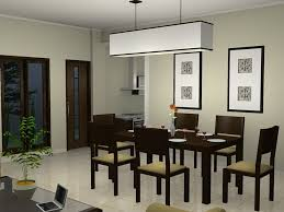 Modern Contemporary Dining Room Chandeliers Design With Rectangular Dark Brown Table