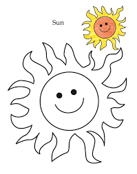 Level Sun Coloring Page Kindergarten Pages Shapes Geometric Leaf Full Size