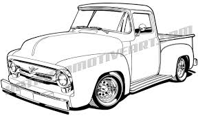 1956 Ford F-100 Pickup Truck Clip Art, Buy Two Images, Get One Image ...
