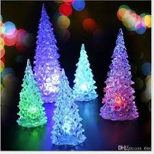 Christmas Decorations Gifts Cute Mini LED Tree With Light 13cm Hight Can Change Colors Xmas Home Led Toys