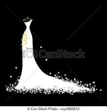Wedding Dress White Hangers Vector