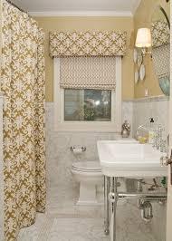 atlanta damask shades bathroom traditional with white wood