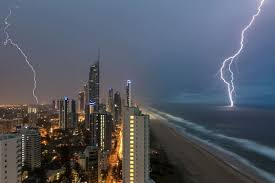 Lightning Cracks Over The Gold Coast During A Storm In December