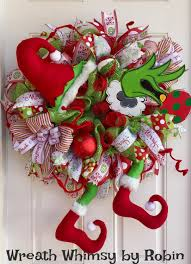 The Grinch Christmas Tree Ornaments by Grinch Christmas Deco Mesh Wreath In Lime Green U0026 Red Holiday