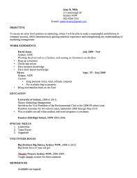 Resume Templates Australia Format CV