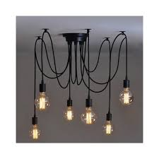 Alfie Lighting AL 6SP Black Spider Cable Pendant Ceiling Light