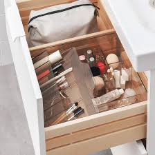 godmorgon box with compartments smoked 32x28x10 cm