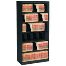 Tennsco Metal Storage Cabinet 36x24x72 Black by Amazon Com Tennsco Fs360bl Open Fixed Shelf Lateral File 36w X
