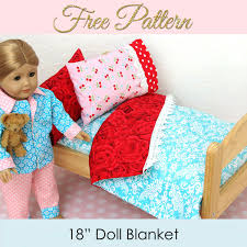 Doll Blanket Pattern FREE Doll Bedding Tutorial Dolls American