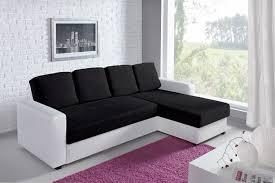 canapé noir et blanc convertible canapé d angle convertible et réversible esther blanc et noir