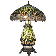 Home Depot Tiffany Style Lamps by Serena D U0027italia Tiffany Dragonfly 25 In Bronze Table Lamp With