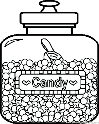 Candy Corn Coloring Pictures Page Free Pages