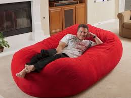 Image Of Huge Bean Bag Red