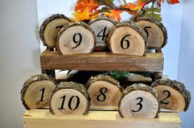 Rustic Wedding Table Numbers Number Log Wood Country Sign Barn Decor