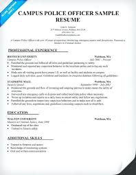 Resume Examples For A Police Officer Also Regulation Enforcement